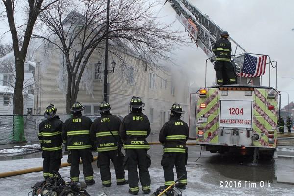 RIT at fire scene