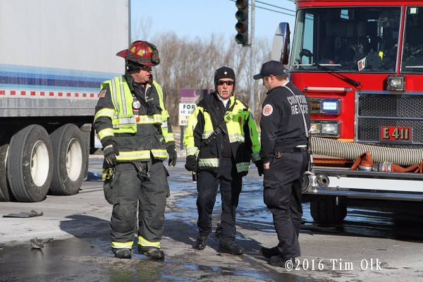 firemen at accident site