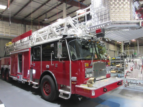 E-ONE fire truck being built