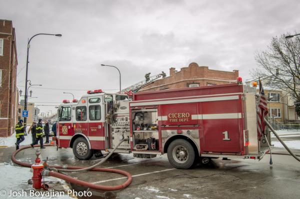 Cicero FD E-ONE Cyclone fire engine