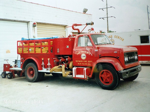 fire truck from the Clark Oil Refinery in Blue Island IL