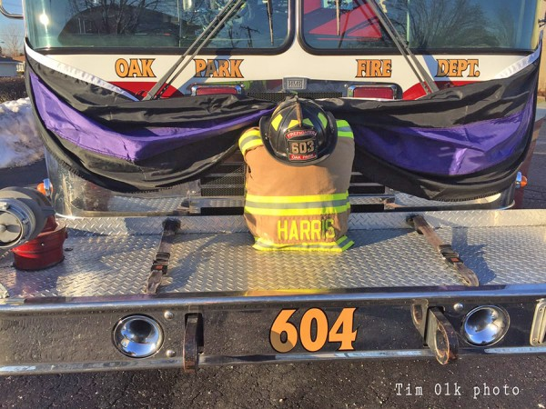 firefighter gear at funeral