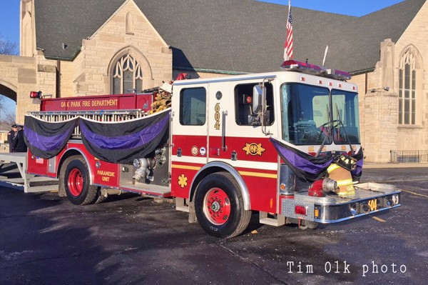 fire engine for funeral