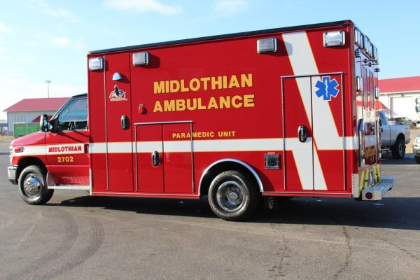 2016 Wheeled Coach Type III Ford Ambulance for the Midlothian Fire Department. Fire Service, Inc. photo