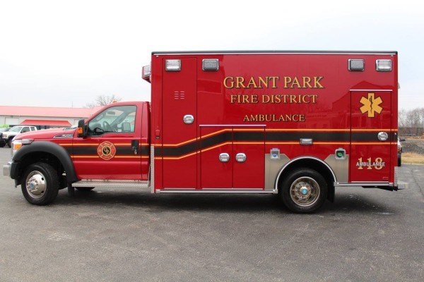 New ambulance for the Grant Park FPD.