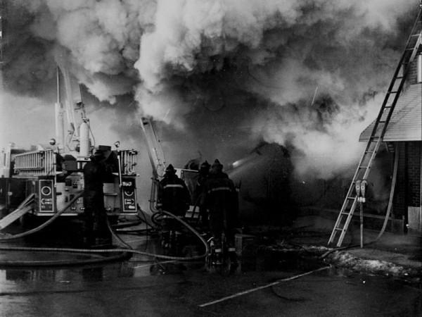The Ben Franklin store fire killed three Palatine firefighters. John Tobin photo