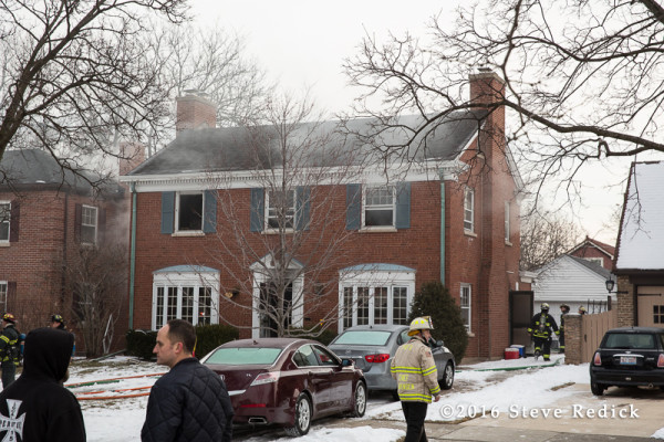 scene of Park Ridge house fire