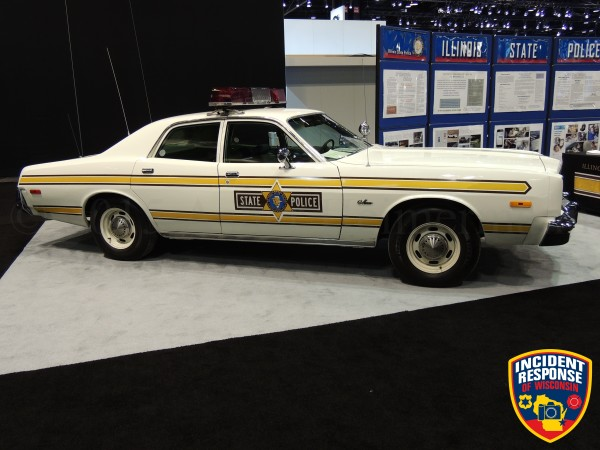 vintage Illinois State Police car