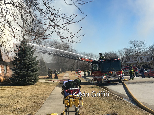 heavy smoke from apartment complex fire