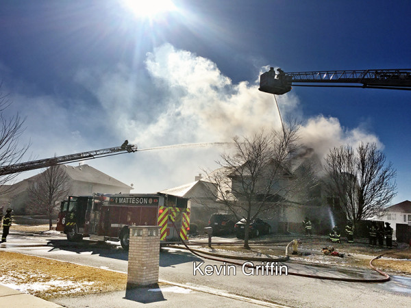 house fire in Matteson IL 2-13-16