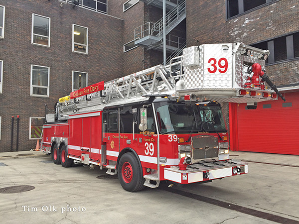 new E-ONE tower ladder for Chicago FD
