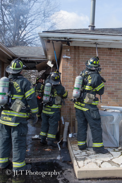 firefighters overhaul house