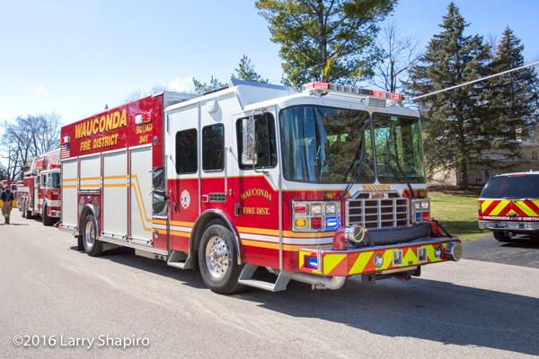Ferrara fire engine at fire scene