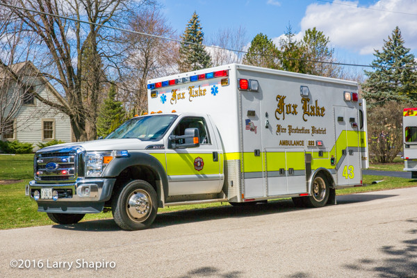 Fox lake Fire Department ambulance