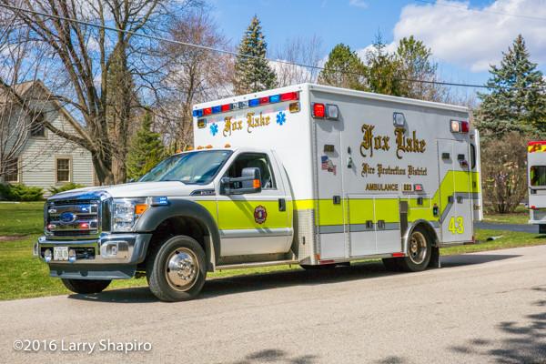 Fox lake Fire Department ambulance