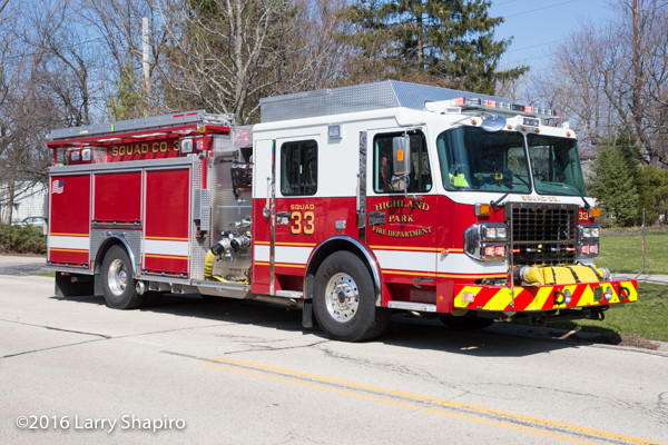 Highland Park FD Spartan ERV fire engine