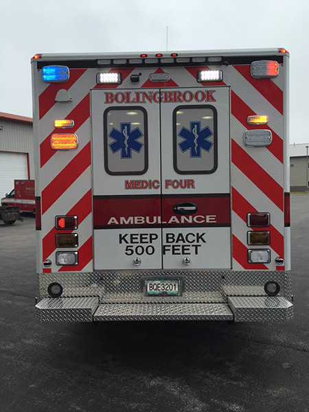 rear chevron striping on new ambulance