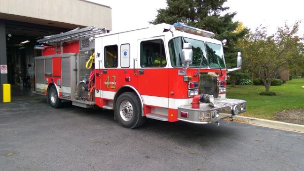 Wheeling Engine 42 for sale - 2002 Spartan/Luverne.
