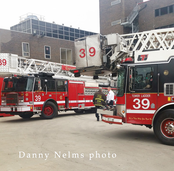 Chicago FD Tower Ladder 39 old and new