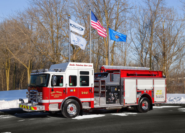 New Pierce Enforcer for Coal Valley FPD Engine 2461