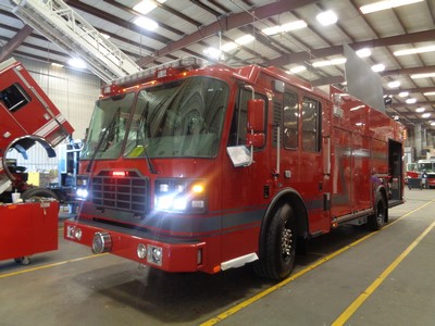 new fire engine for BP in Whiting IN