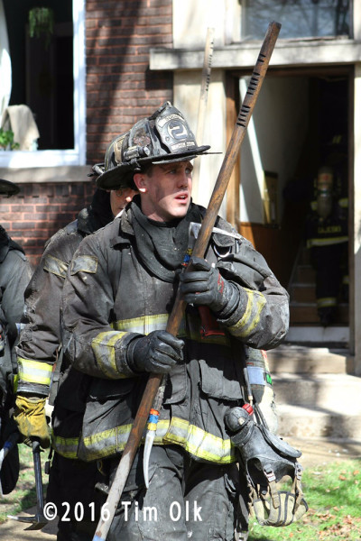 fireman after battling a fire