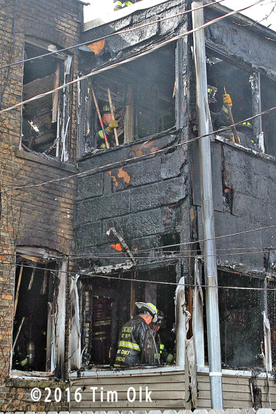 firemen overhaul back porches