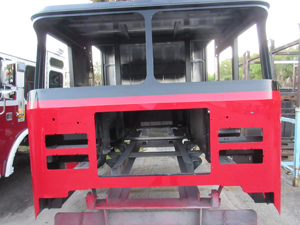 fire engine cab being built for Chicago