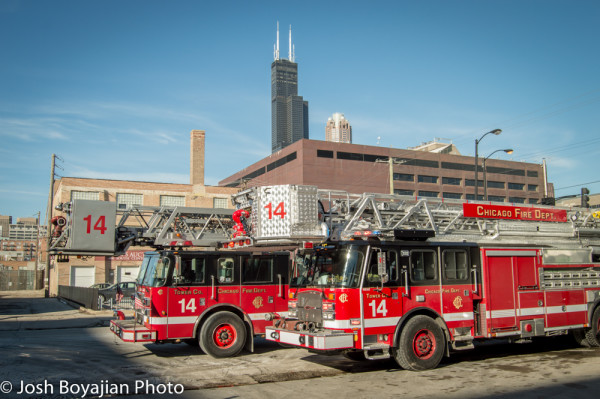 New and old units for CFD Tower Ladder 14