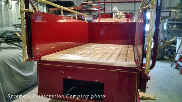 Sycamore FD 1923 Stutz pumper being restored