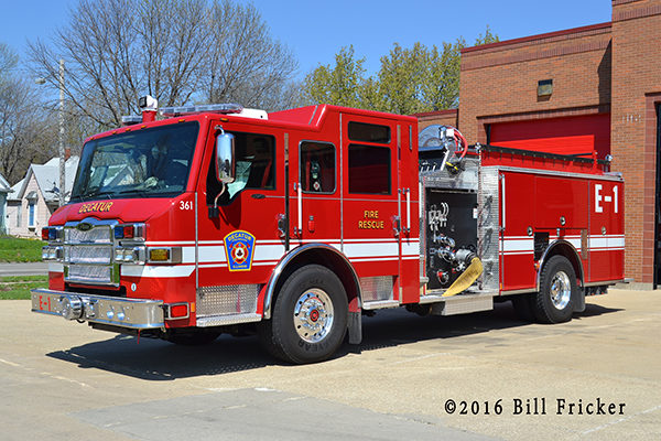 Pierce Impel fire engine in Decatur IL