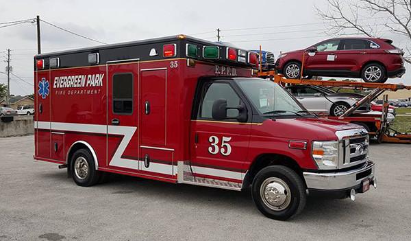 Evergreen Park Fire Department ambulance