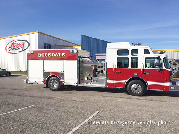 new fire engine for the Rockdale Fire Protection District