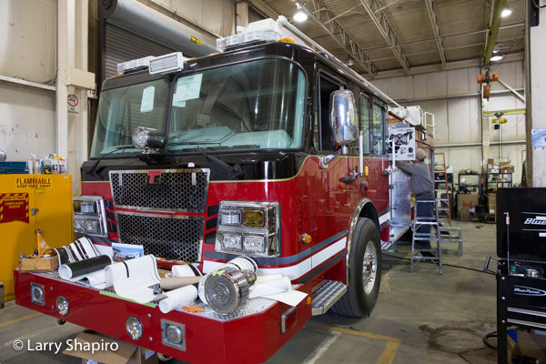 Snorkel fire truck being built for the Frankfort FPD