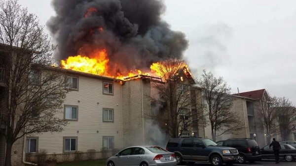 apartment building fire in Merrillville IN