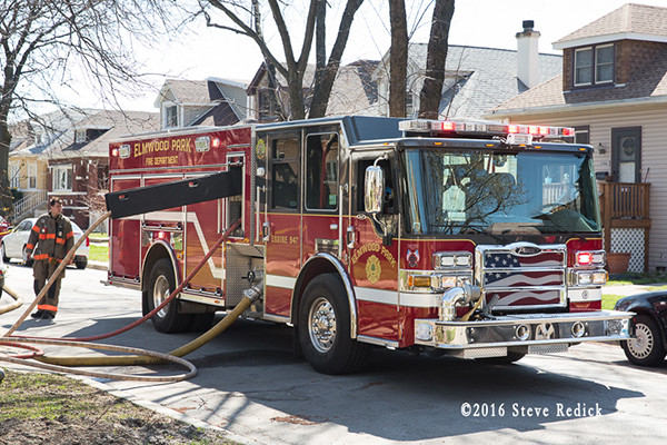 Elmwood Park fire engine