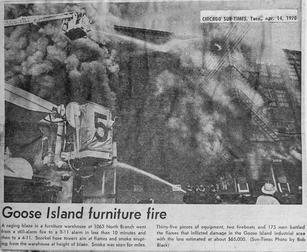 4-11 alarm fire in Chicago 4-14-70
