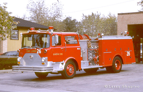1977 Mack CF fire engine from Oak Lawn, IL
