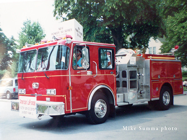 American LaFrance Pioneer 90 Series fire engine demo