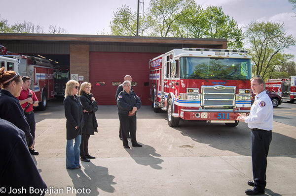 fire chief introduces new fire engine