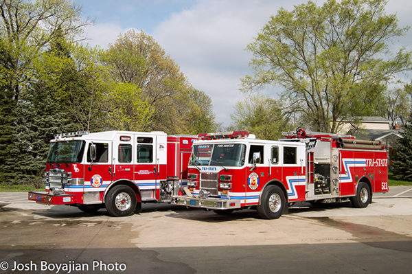 new and old fire engines for the Tri-State FPD