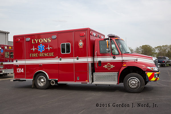 new ambulance for the Lyons Fire Department