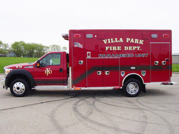 new Villa Park FD ambulance