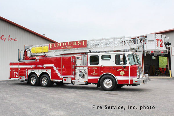 New fire truck for the Elmhurst Fire Department