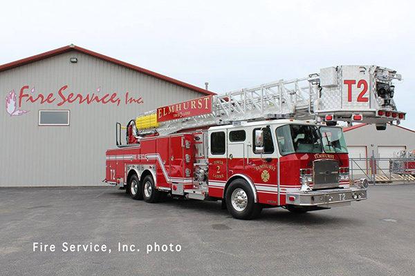 New fire truck for the Elmhurst Fire Department
