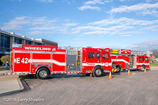 new fire trucks for the Wheeling Fire Department