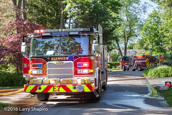 Glenview FD Pierce Arrow XT fire engines
