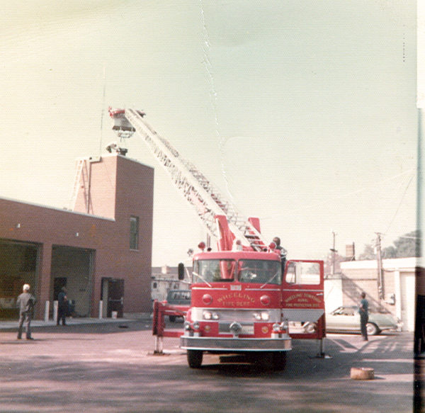 Wheeling Township Fire Protection District tower ladder .. circa 1972