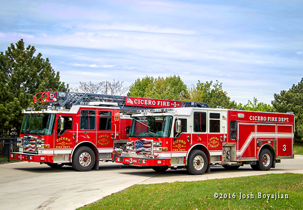 Cicero fire trucks