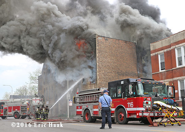 Chicago FD Engine 116 at a fire scene